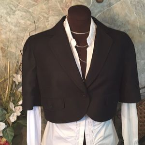 Calvin Klein suit jacket coat blazer shrug bolero